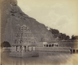 Kaloogoomulla [Kalugumalai], near Tinnevelly. The Rock and Sacred Tank